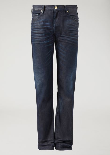 Jeans regular fit J45 in denim cerato e lavato