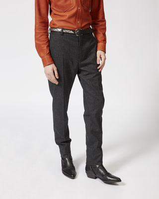 ISABEL MARANT PANT Man OWEN flannel trousers r