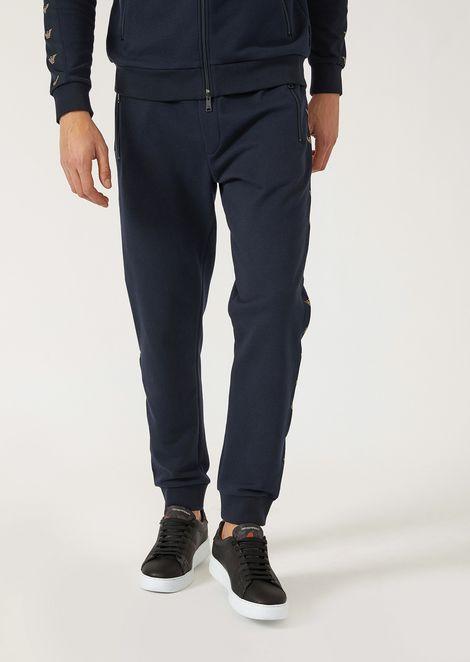 Pantalon de jogging en Lyocell avec bandes latérales en chenille 55cfadfdf76