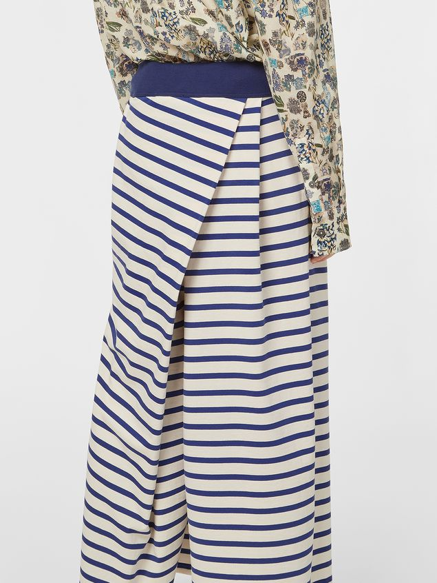 Marni Asymmetric pants in compact striped jersey Woman - 5