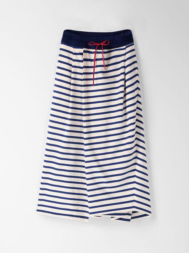 Marni Asymmetric pants in compact striped jersey Woman - 2
