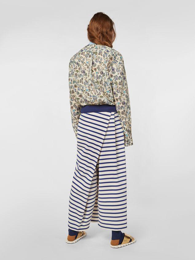 Marni Asymmetric pants in compact striped jersey Woman - 3