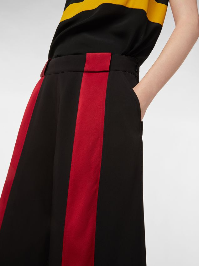 Marni Pants in black and red bicrepe cady  Woman - 5