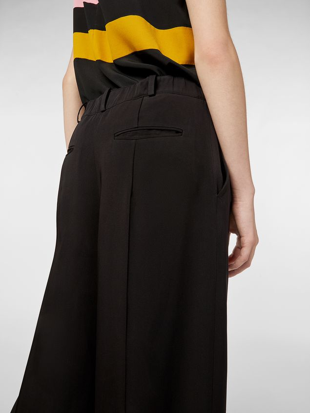 Marni Pants in black and red bicrepe cady  Woman - 4