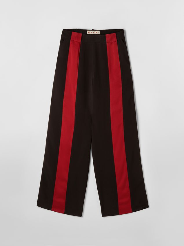 Marni Pants in black and red bicrepe cady  Woman - 2