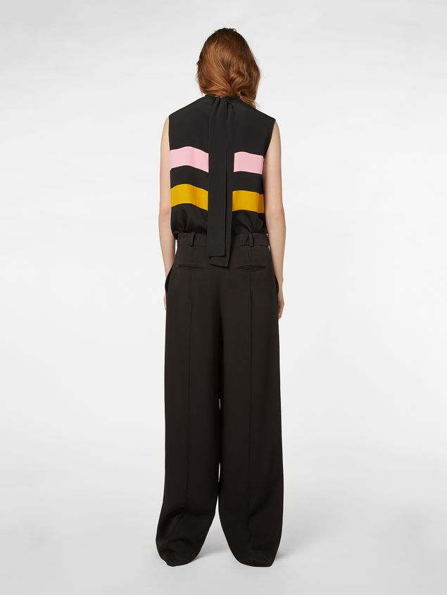 Marni Pants in black and red bicrepe cady  Woman - 3