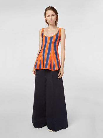 Marni Pants in cotton and linen drill with waist loops Woman