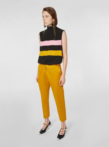 Marni Pants in cotton and linen drill Woman