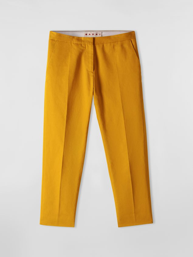 Marni Pants in cotton and linen drill Woman - 2