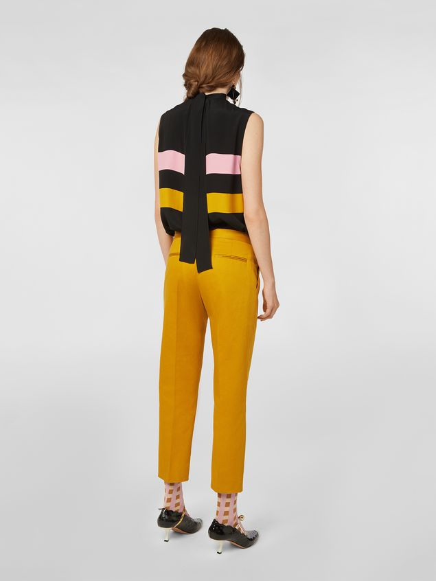 Marni Pants in cotton and linen drill Woman - 3