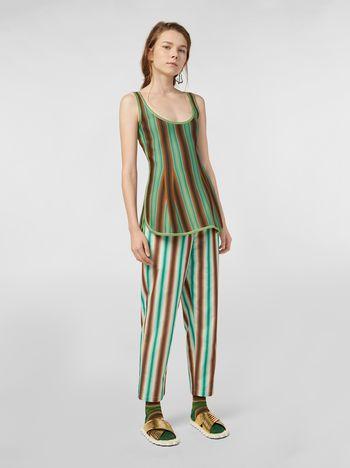 Marni Pantaloni in cotone degradé rigato Donna