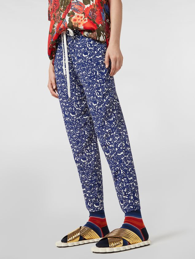 Marni Silk crepe pants with Lylee print Woman - 5