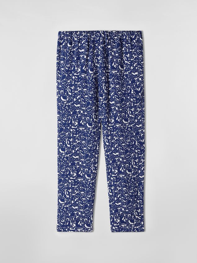 Marni Silk crepe pants with Lylee print Woman - 2