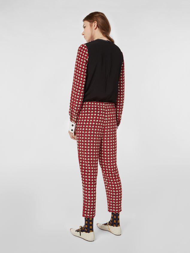 Marni Silk crepe pants Shell print Woman