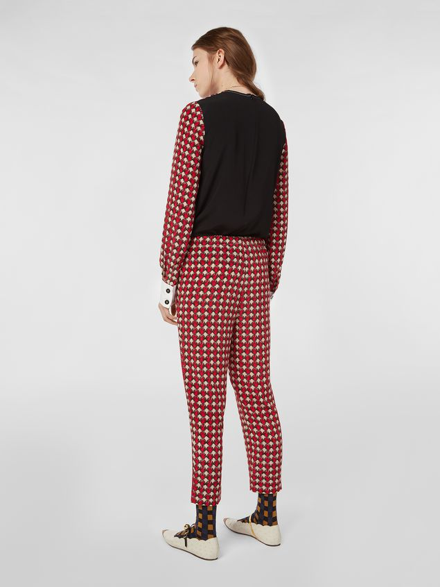 8306aec062786b Marni Silk crepe trousers Shell print Woman