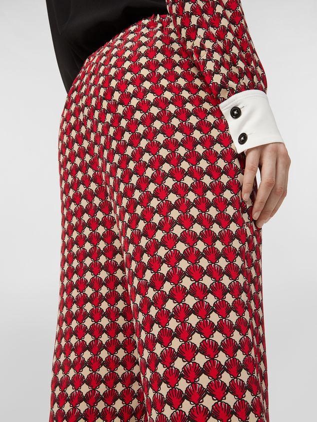 Marni Silk crepe pants Shell print Woman - 5