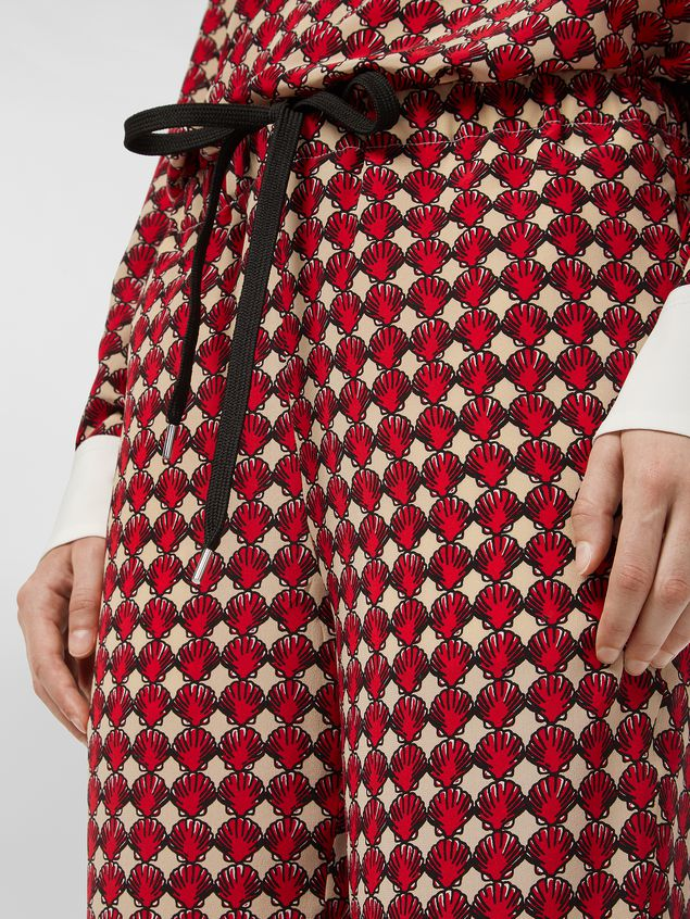 Marni Silk crepe pants Shell print Woman - 4