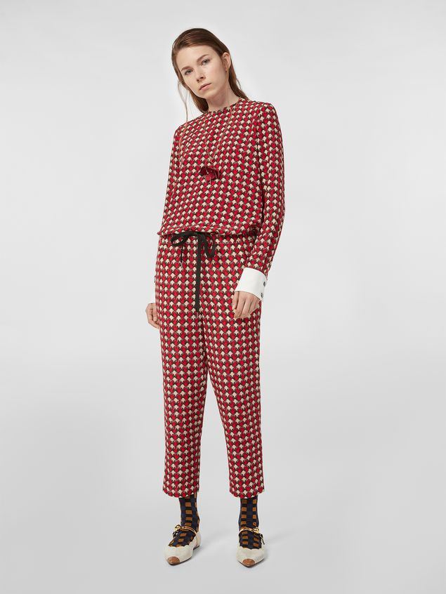 Marni Silk crepe pants Shell print Woman - 1