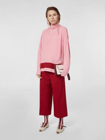 Marni Pantaloni in cotone con risvolto Donna
