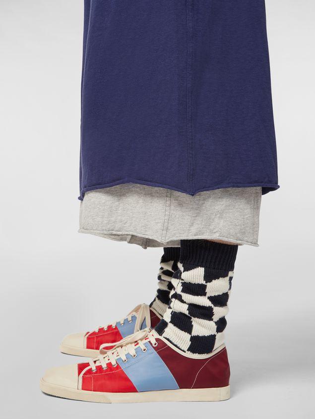Marni Pants in slub jersey blue and gray Man - 5
