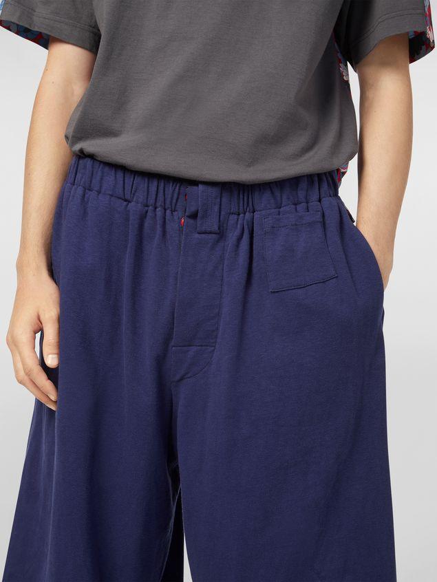 Marni Pants in slub jersey blue and gray Man - 4