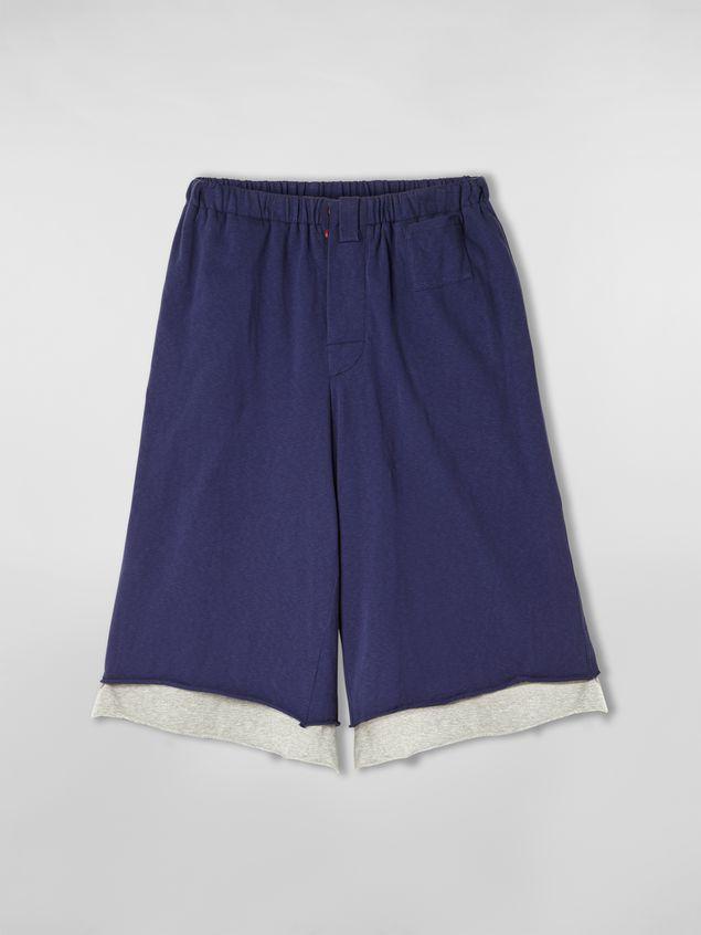 Marni Pants in slub jersey blue and gray Man - 2