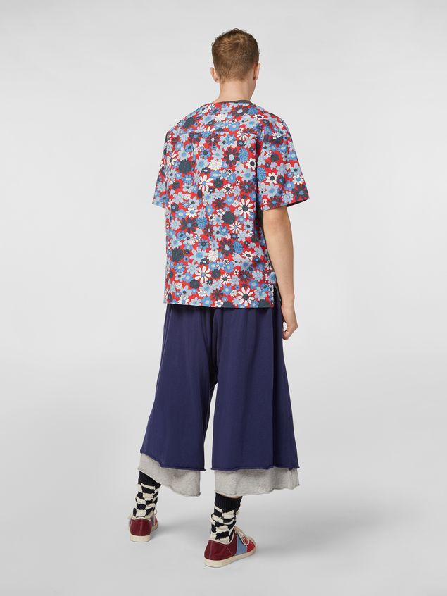 Marni Pants in slub jersey blue and gray Man - 3