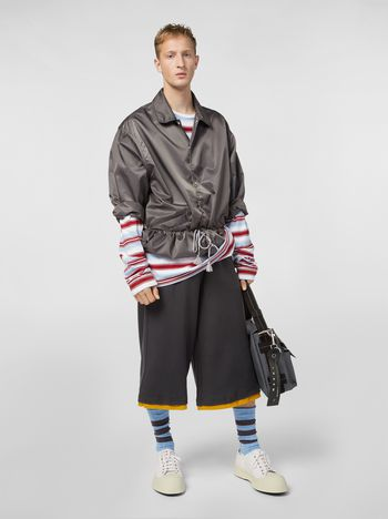 Marni Pants in compact jersey gray and yellow Man