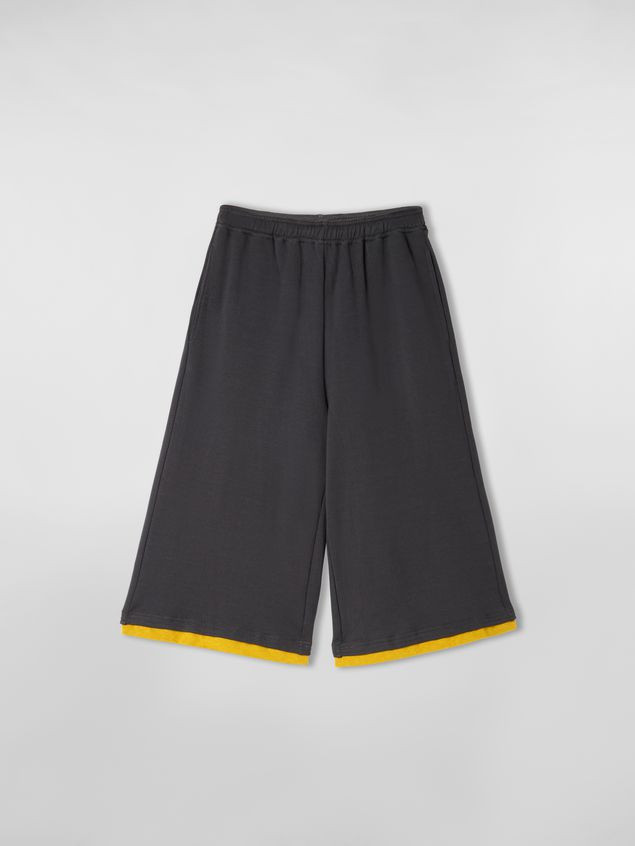 Marni Pants in compact jersey gray and yellow Man - 2