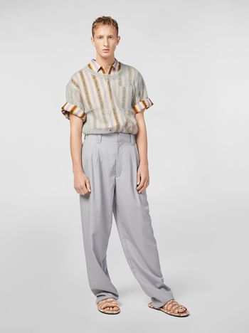 Marni Darted pants in tropical wool Man