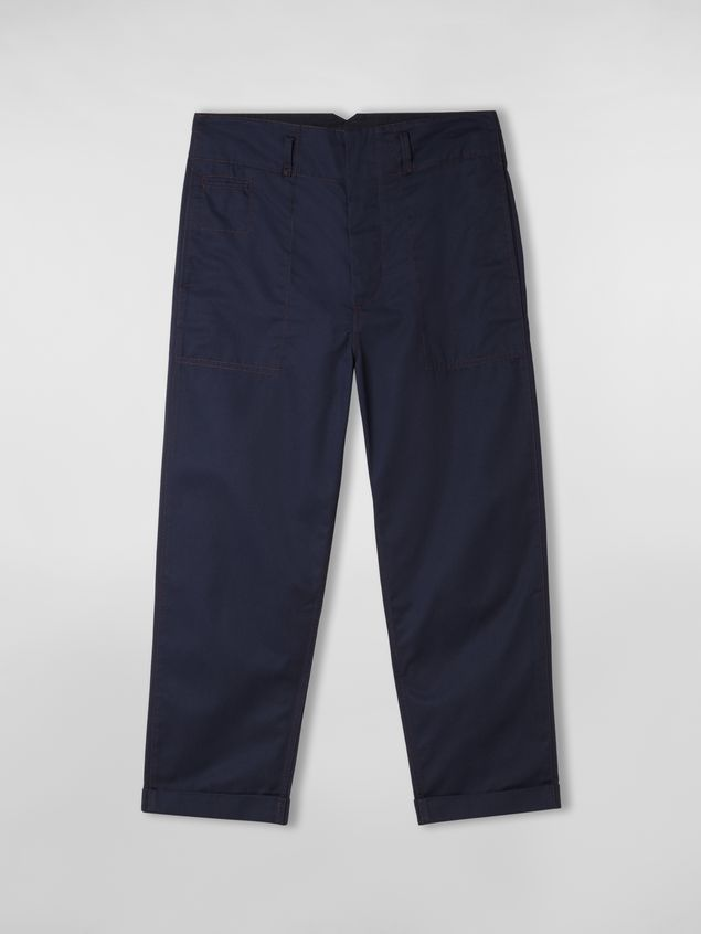 Marni Trousers in lightweight techno gabardine blue Man - 2