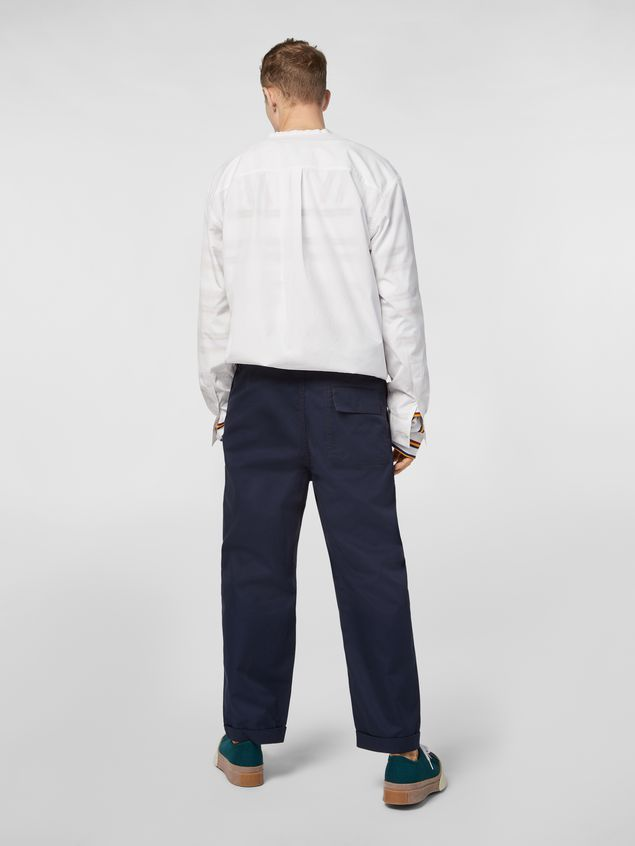 Marni Trousers in lightweight techno gabardine blue Man - 3