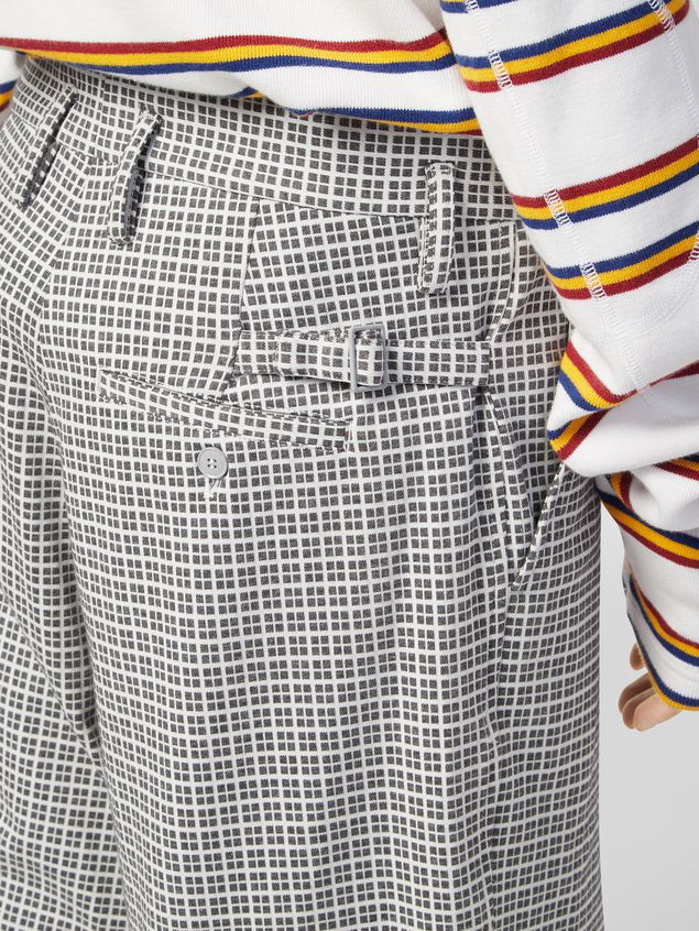 Marni Pants in micro check jacquard with back belt Man - 4