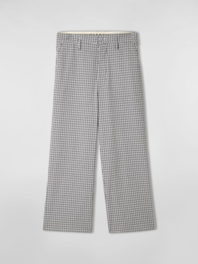 Marni Pants in micro check jacquard with back belt Man - 2