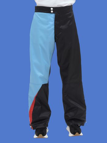 Marni Pants in light nylon with contrasting-colored inserts Man