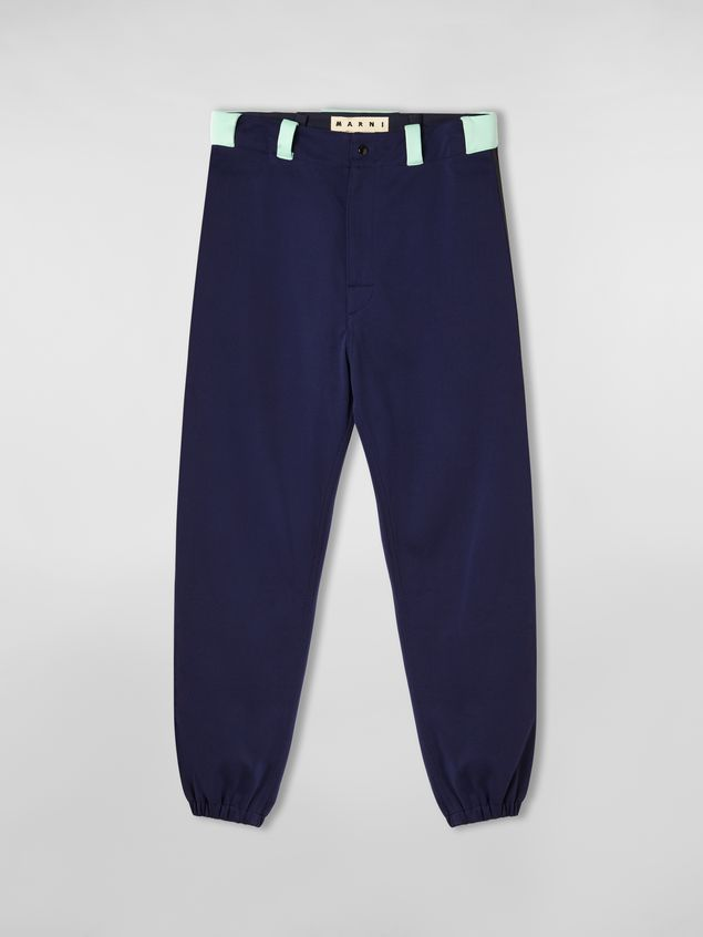 Marni Pants in cornflower blue techno jersey with contrast detailing Man - 2