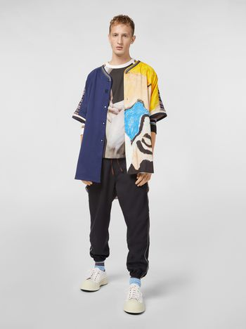 Marni Pants in techno jersey with contrast detailing Man f