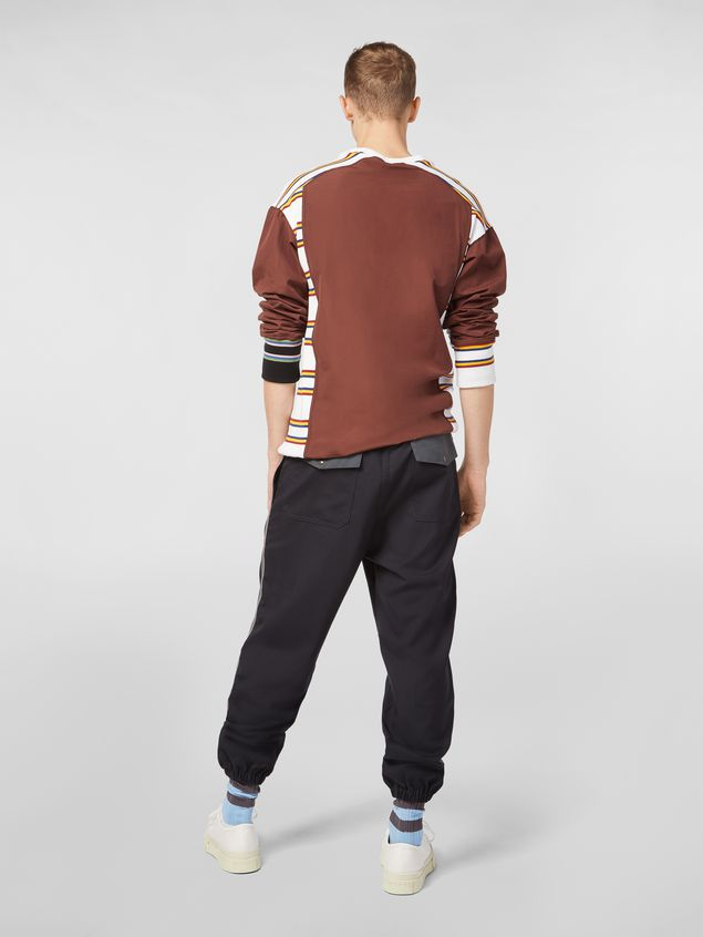 Marni Trousers in techno jersey with contrast detailing Man