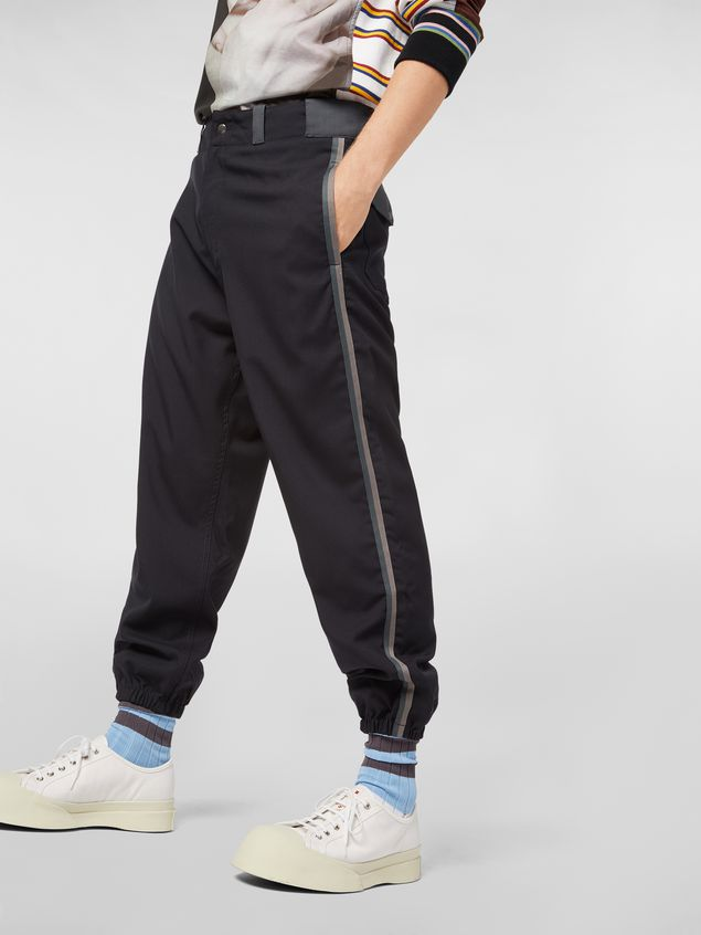 MARNI Pants Man Pants in techno jersey with contrast detailing a