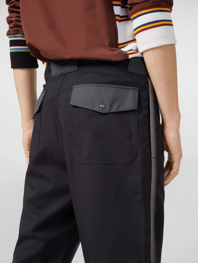 Marni Pants in techno jersey with contrast detailing Man - 4