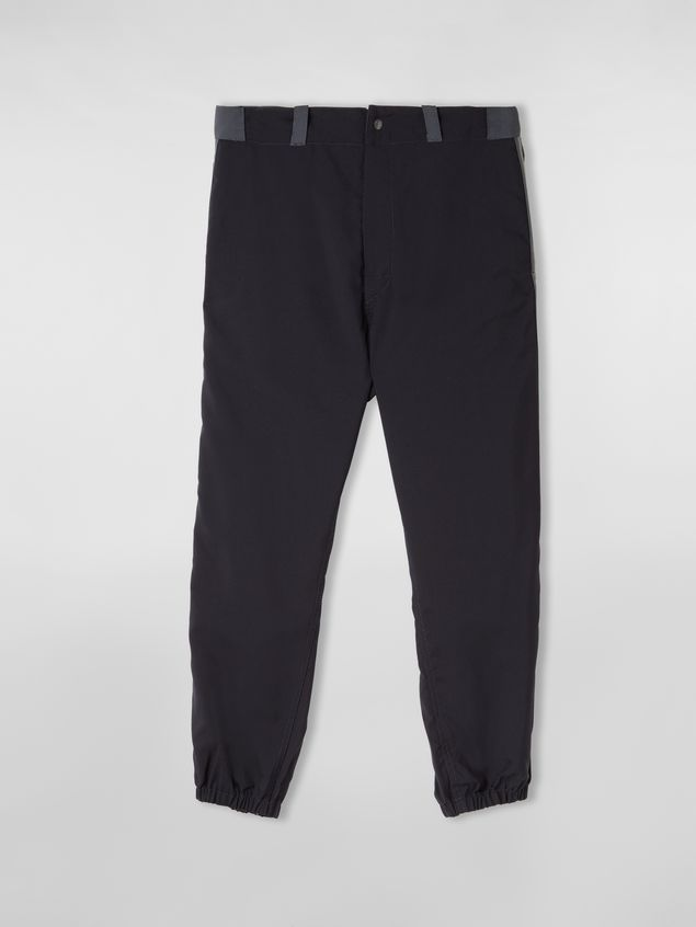 Marni Trousers in techno jersey with contrast detailing Man - 2