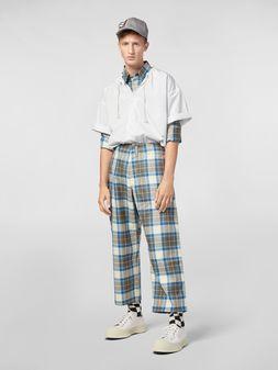 Marni Pants in yarn-dyed wool tartan Man