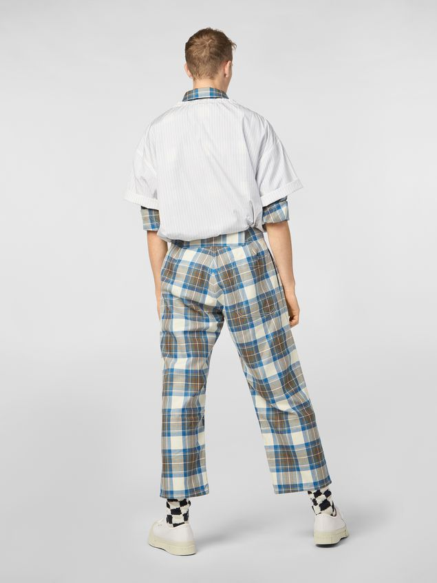 Marni Pants in yarn-dyed wool tartan Man