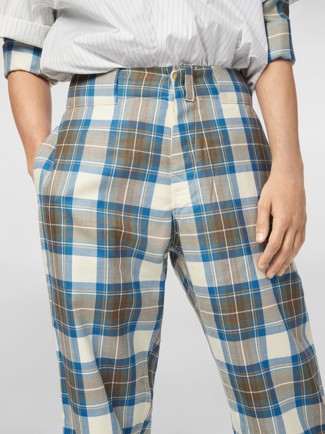 MARNI Pants Man Pants in yarn-dyed wool tartan a