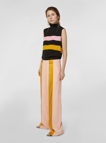 Marni Pants in pink and gold bicrepe cady  Woman