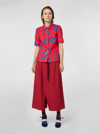 Marni Drawstring pants in burgundy poplin  Woman