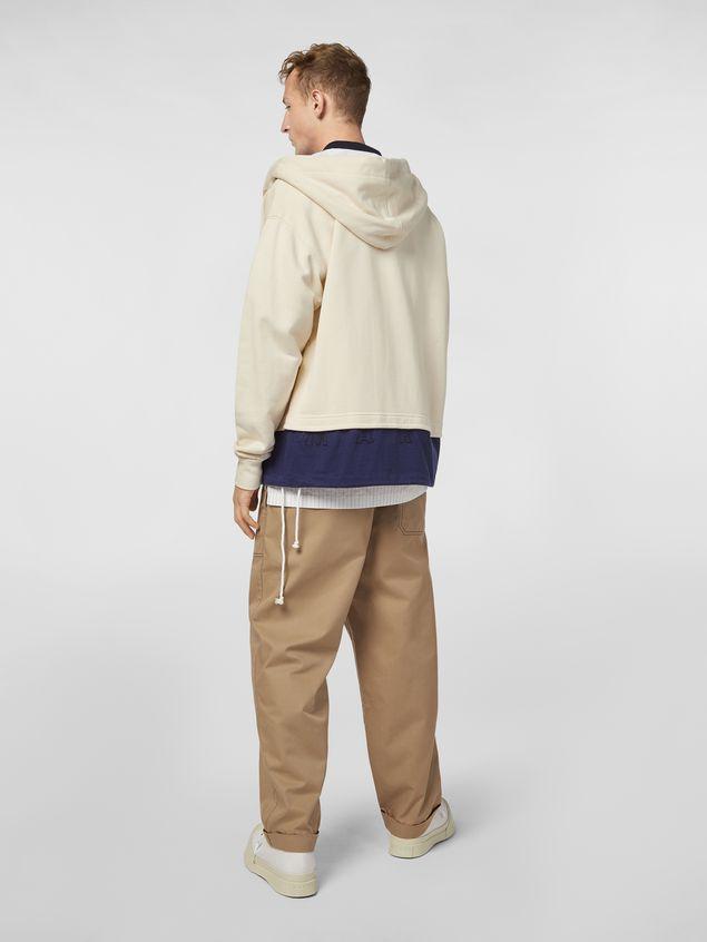 Marni Trousers in lightweight techno gabardine beige Man