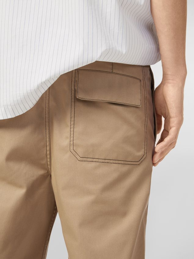 Marni Trousers in lightweight techno gabardine beige Man - 5