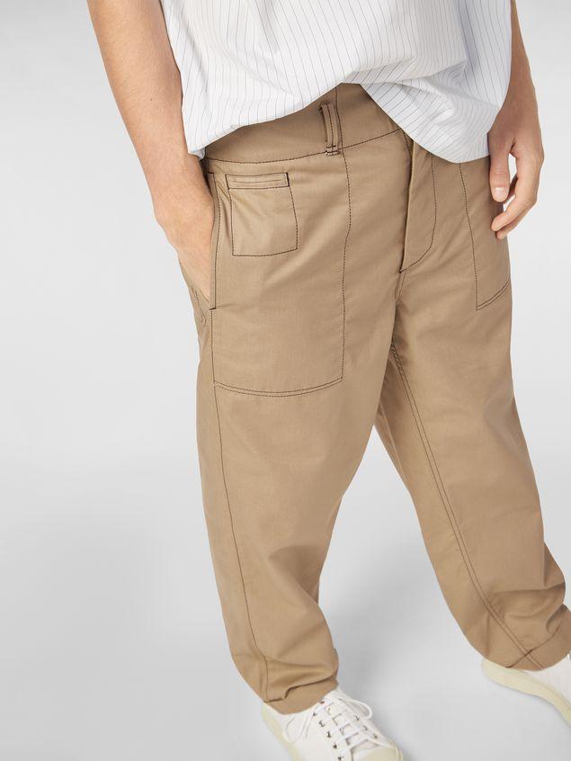 Marni Trousers in lightweight techno gabardine beige Man - 4