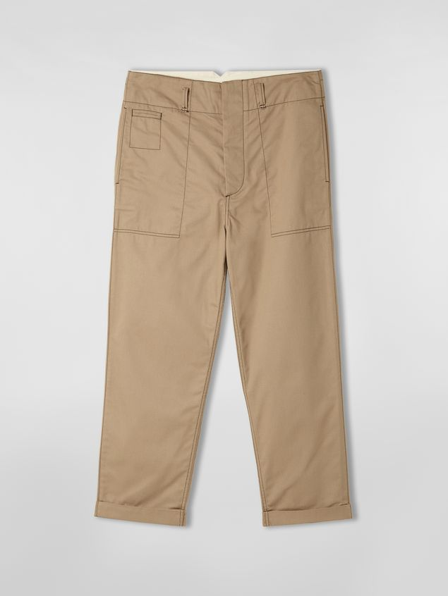 Marni Trousers in lightweight techno gabardine beige Man - 2